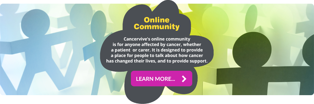 Cancervive Online Community feature image link